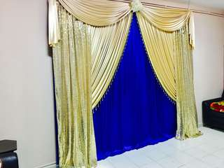 Bangle ceremony / puberty Ceremony / dais / pelamin/ wedding/ Naming ceremony/ engagement/ simple backdrop