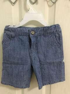 Mothercare denim shorts for 6-9 mos boy