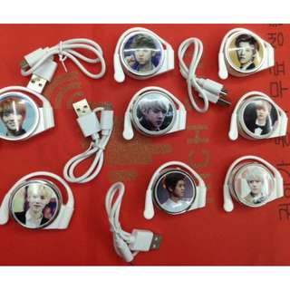 Korean celebrity mp3 headset