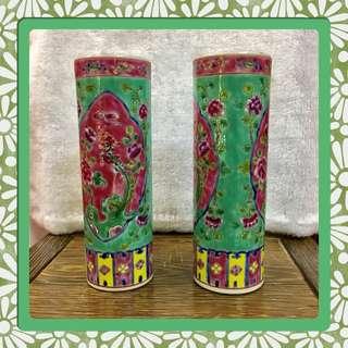 Vintage Peranakan Vase (Small)/Incense Holder