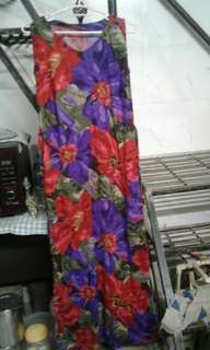 Black, red & purple floral spaghetti maxi dress from Canada