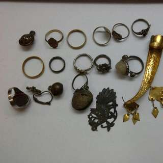 Antique Rings N Jewelry Brass And Silver Old Peranakan Malayan