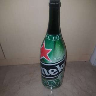 Limited edition heineken bottle
