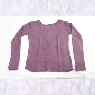 Purple Knitted Pullover