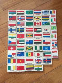 Country flag erasers