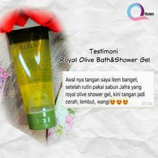 Royal Olive Bath and Shower Gel Jafra
