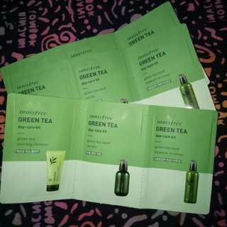 Ready!! Innisfree green tea day care kit,