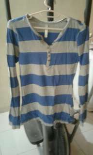 Blue n white blouse