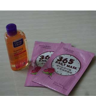 In sets (Clear & clean dan Rose water brithening mask)