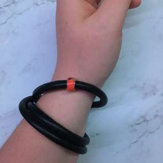 Endless Jewellery multi-use leather band and red charm