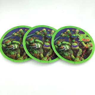 💥 Superheroes TMNT party supplies - TMNT Party plates