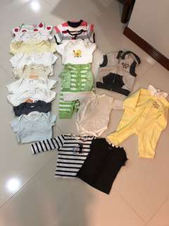 [Preloved] (0-6M) Baby Clothes In Bundle