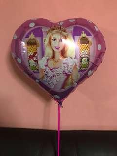 Princess Barbie Heart Balloon