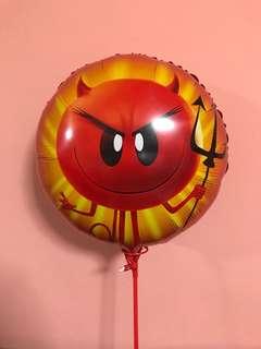 Red devil emoji balloon