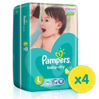 CARTON SALE Pampers Baby Dry Tapes