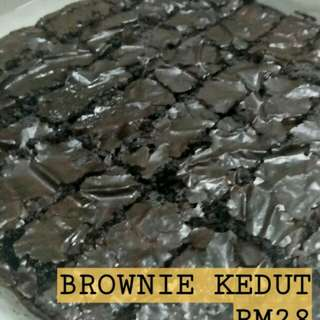 Brownies Kedut, Almond,  Ganache