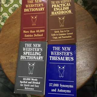 Webster's Dictionary, Spelling Dictionary, English Handbook, Thesaurus. Pocket Size.