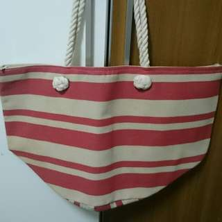 [SC Deal] Xtra Large Stripe Pink Khaki Bag