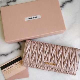 Miu Miu Matelasse Lux Leather Wallet