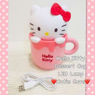 *NEW IN IN SG* Hello Kitty Dessert Cup LED Lamp