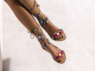Elina Linardaki Greek Sandals RRP:$275