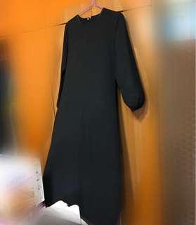 Black dress jubah abaya