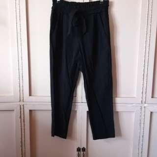 Zara Trousers Pants with Ribbon