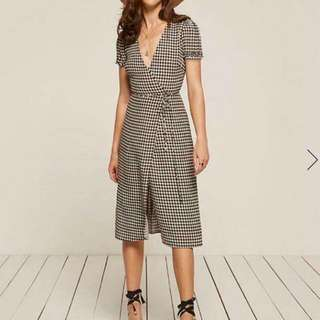 Gingham Wrap Dress S - M