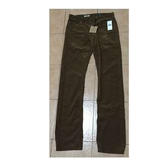 Adriano Goldschmied -  Straight Leg Corduroy Pants