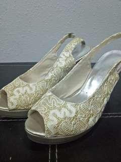 Glittery Gold high heels