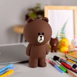 🐻 Line Brown Pencil Case