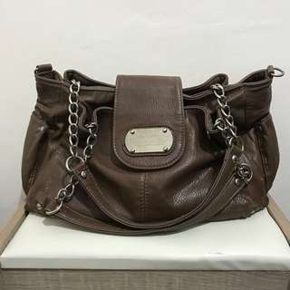 Brown Leather Chain Bag