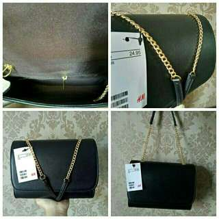 Tas H&M mini cluth ring mini free dusbag