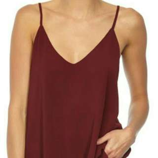cotton on astrid cami (maroon)