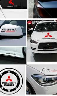 Car Stickers ralliart Mitsubishi