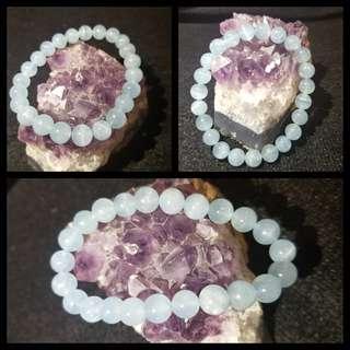 水晶🌸海藍寶手串🌸8mm🌸