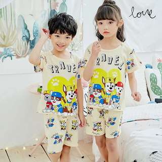 Little Kid House Wear - FGT651  Size 8 (for height 90-100cm) Size 10 (for height 100-110cm) Size 12 (for height 110-120cm) Size 14 (for height 120-130cm) Size 16 (for height 130-135cm) Size 18 (for height 135-145cm)  Design: as attach photo