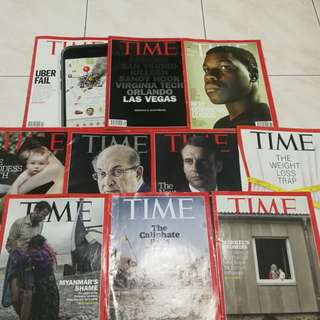 Assorted Time Magazine 2017