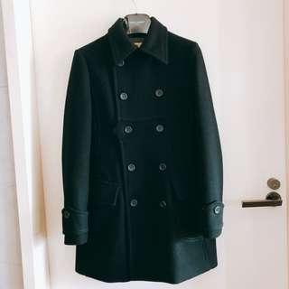 🚚 Tough經典款美美的顯瘦厚磅羊毛學院風外套 XS號