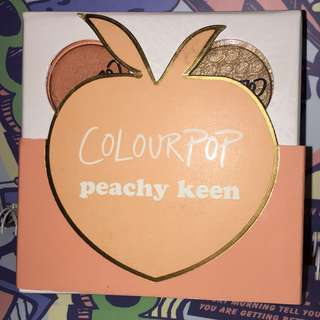 BOLEH NEGO NEW AUTHENTIC COLOURPOP SUPER SHOCK SHADOW PIGMENTED # peachy keen # eyeshadow peach