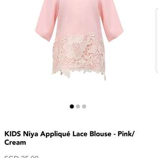 BNWT Pink blouse with lace
