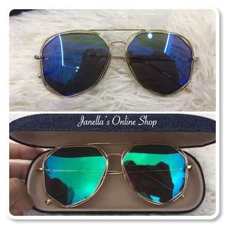 DIOR Style sunglasses with hardcase and wiper