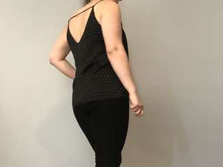 Black white polka dot strapped Cami