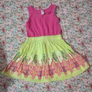 Pink Green Dress #ramadan50
