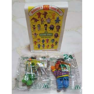 NOS Sesame Street Mini Bean Pals from McDonald's - Bert and Ernie