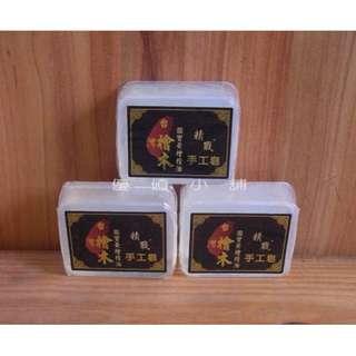 🚚 檜木手工皂 手工皂 (100克)--黃檜、薄荷、蘆薈