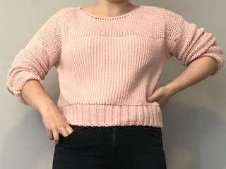 Baby pink sweater / jumper