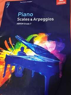 Grade 7 piano scales book