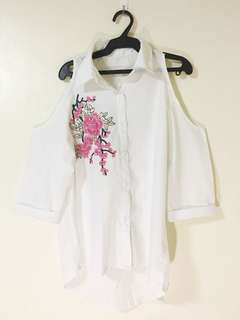Unbraded White Off Shoulder Top