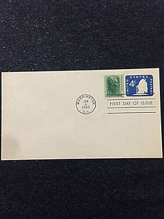 US 1965 4c Blue Ship Stamped Envelope FDC Stamp